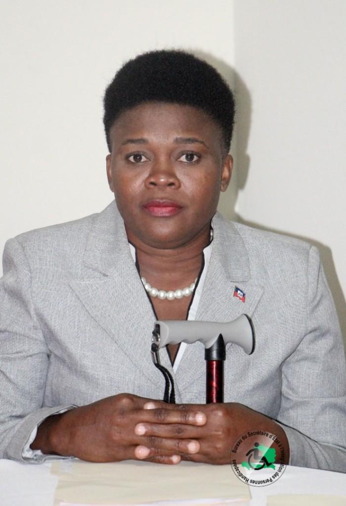 Mme Soinette Désir, Secrétaire d'État à l'Intégration des Personnes Handicapées