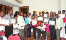 Titre: Clôture de la  formation en langue des signes pour les cadres de l'administration publique