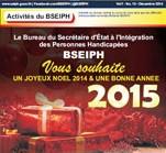 HandiScoop No15: Décembre 2014, bulletin mensuel du BSEIPH